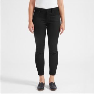 Everlane Mid Rise Skinny Ankle Jeans Black Size 24